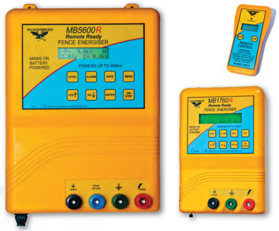 MB1760R and MB5600R Large Mains/Battery Energiser with Remote